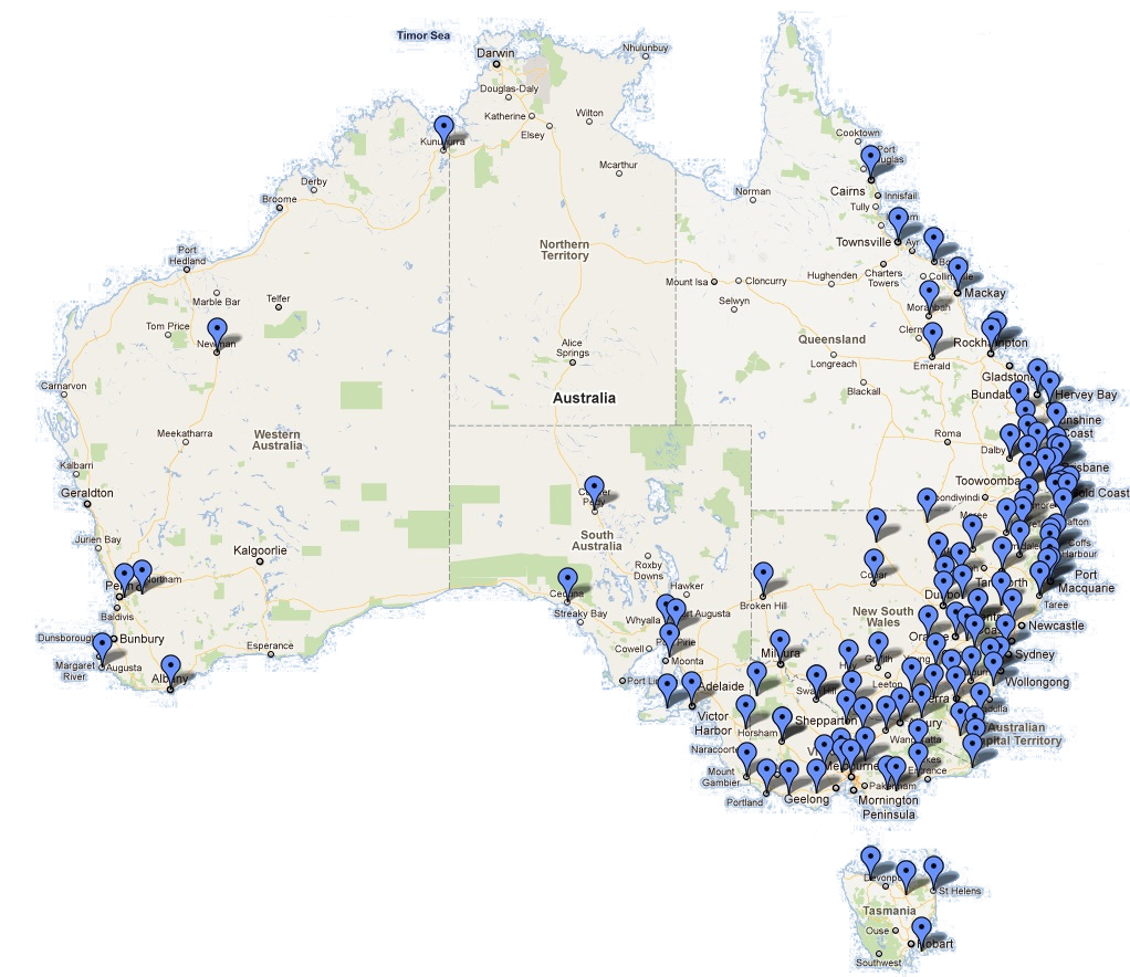 ARCN Stations map